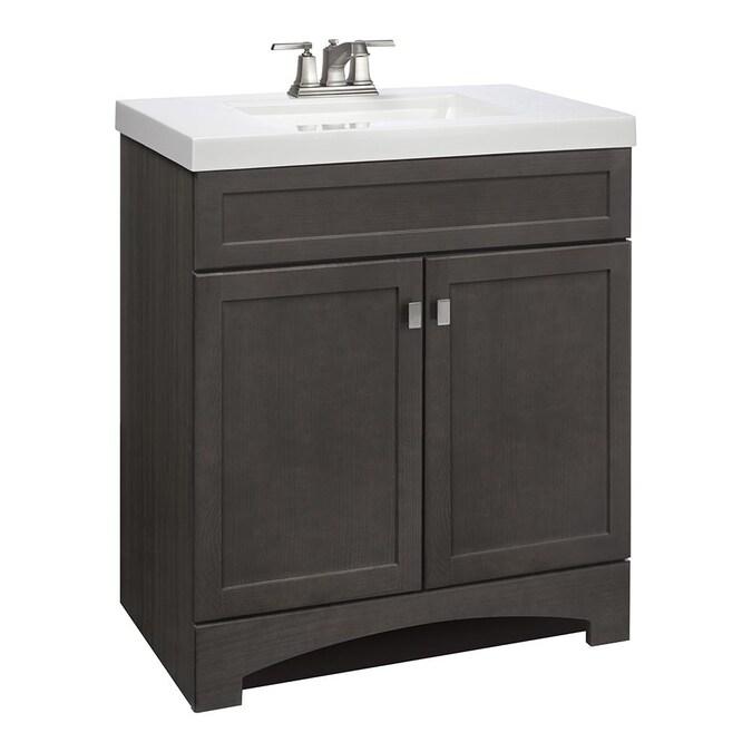 Style Selections Drayden 30 In Heirloom, 30 Bathroom Vanity With Top