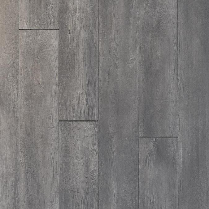 Allen Roth Cinder Charcoal 12 Mm, Dark Gray Laminate Flooring