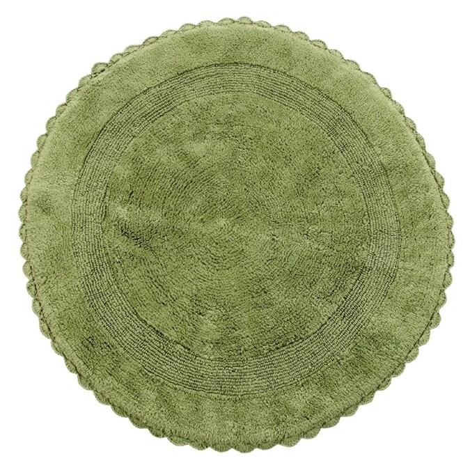 Sage Green Cotton Bath Rug, Green Bathroom Rug