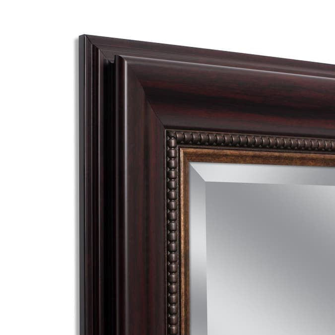 Style Selections 44 In L X 32 In W Cherry Beveled Wall Mirror In The Mirrors Department At Lowes Com