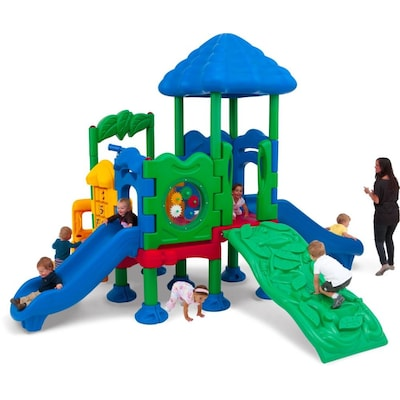 Plastic Playsets Swing Sets At Com, Plastic Playground Set