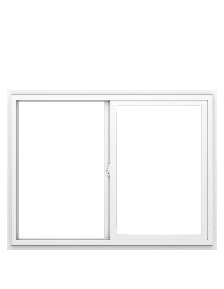 150 Series 47.5-in x 59.5-in x 1.31-in Jamb Left-operable Vinyl New Construction Egress White Sliding Window   - Pella 1000010058