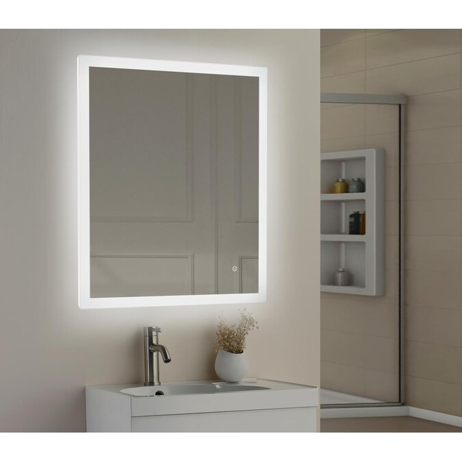 Allen Roth 30 In Lighted Led Fog Free, Vanity Mirror With Lights Frameless