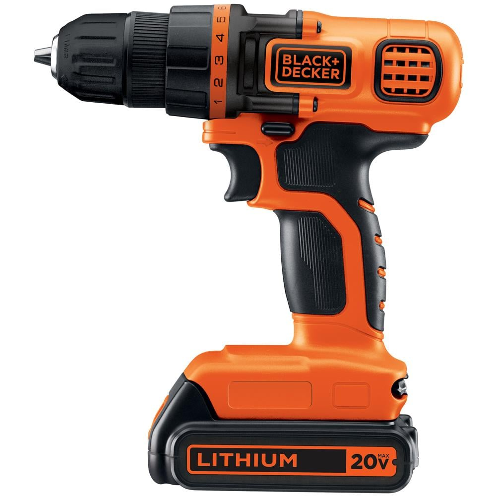 BLACK+DECKER 20-Volt Max 3/8-in Cordless Drill (Charger Included and 1-Battery Included) | LDX120C
