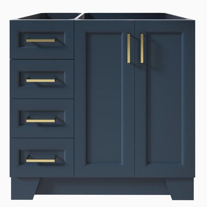 Ariel Taylor 36 In Midnight Blue, Blue Bathroom Vanity Cabinet