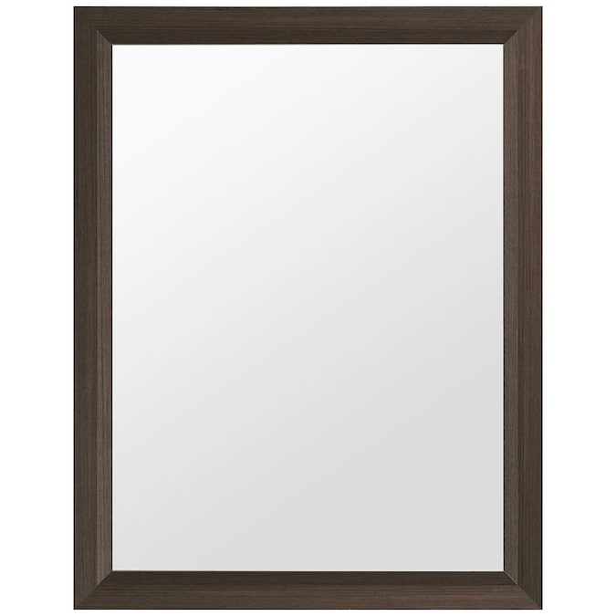 Style Selections 24 In Gray Rectangular Bathroom Mirror In The Bathroom Mirrors Department At Lowes Com