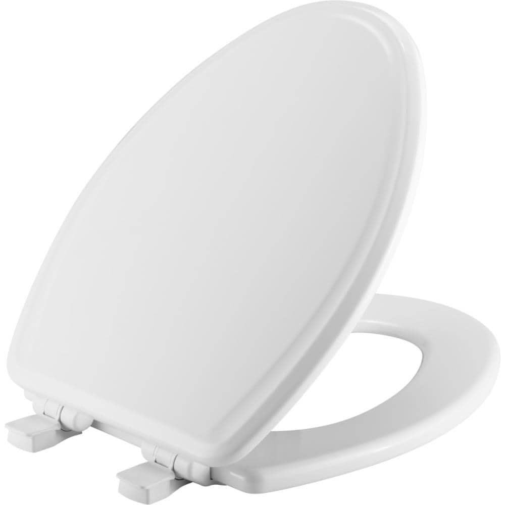 White Elongated Slow Close Toilet Seat