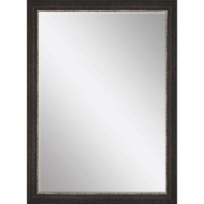 Black Framed Wall Mirror In The Mirrors, 36 X 42 Framed Beveled Mirror
