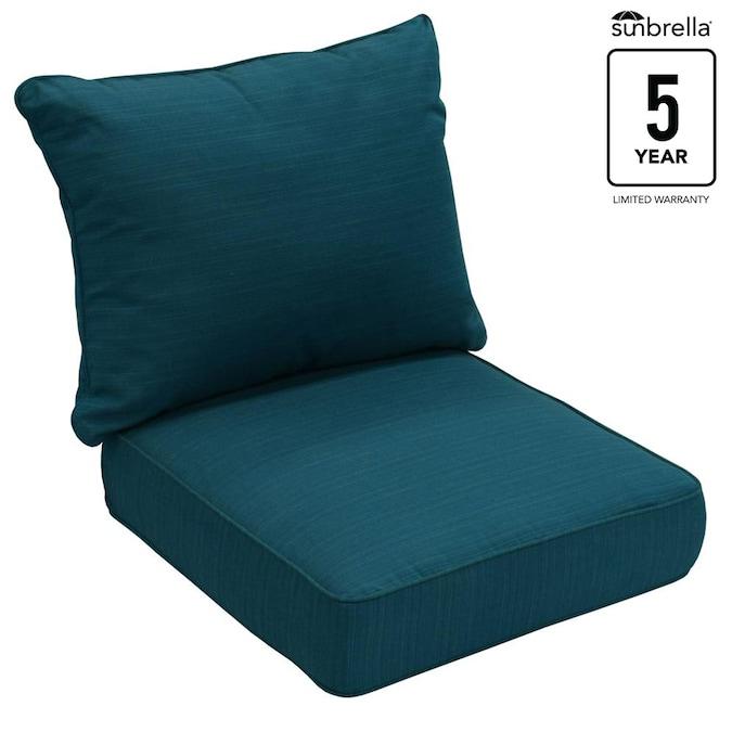 Allen Roth Sunbrella 2 Piece Deep Sea, Replacement Patio Seat Cushions
