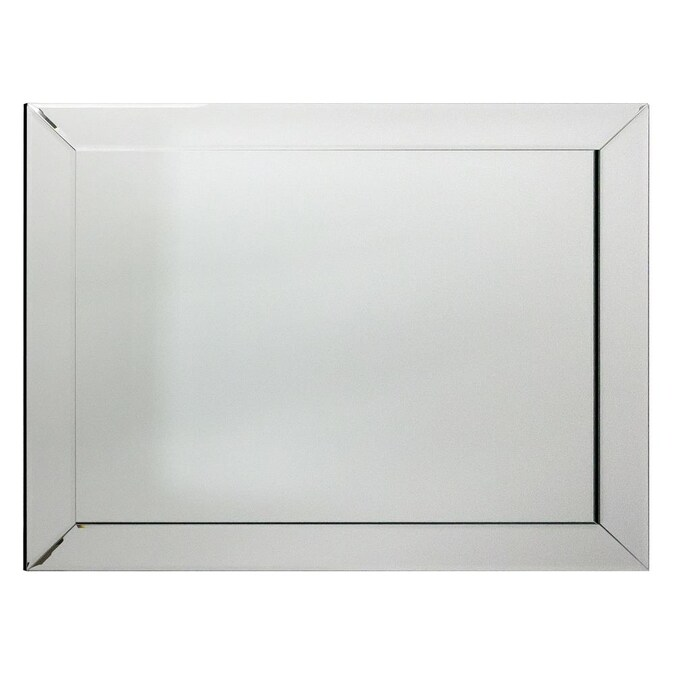 Allen Roth 30 In L X 24 In W Mirrored Beveled Wall Mirror In The Mirrors Department At Lowes Com