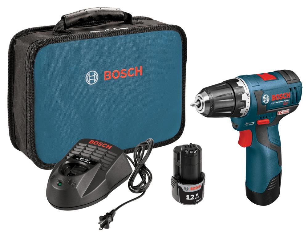 Bosch EC Brushless 12-Volt Max 3/8-in Brushless Cordless Drill (Charger Included and 2-Batteries Included) | PS32-02