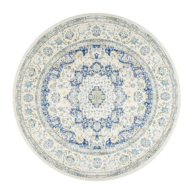 Nuloom Bodrum 8 X Blue Round Indoor, 8 Round Rugs
