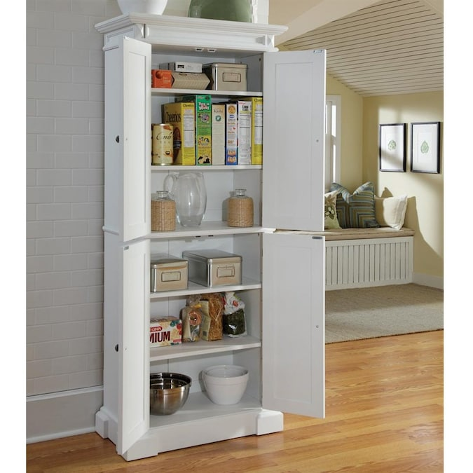 Home Styles White Pantry In The Dining Kitchen Storage Department At Lowes Com