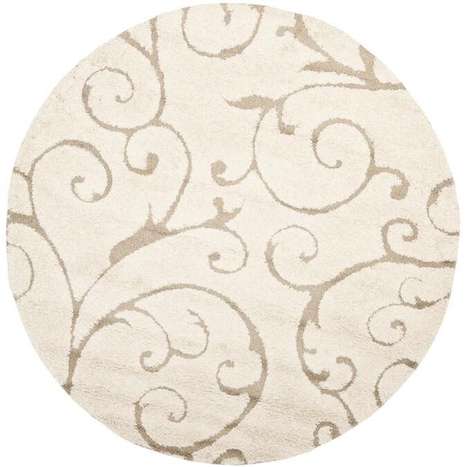 Safavieh Florida Scroll 8 X, Round Cream Rug