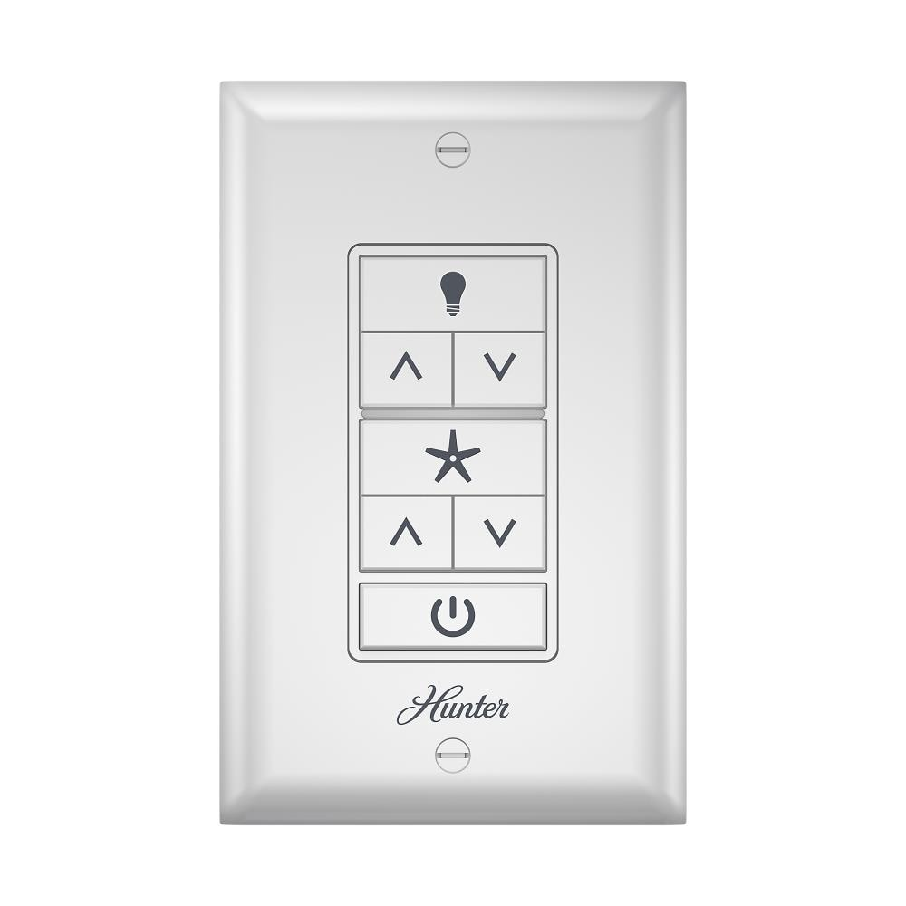 Hunter 3 Speed White Wall Mount Universal Ceiling Fan Remote Control In The Ceiling Fan Switches Department At Lowes Com