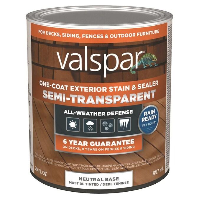 Valspar Neutral Base Semi Transpa, Outdoor Wood Stain Colors