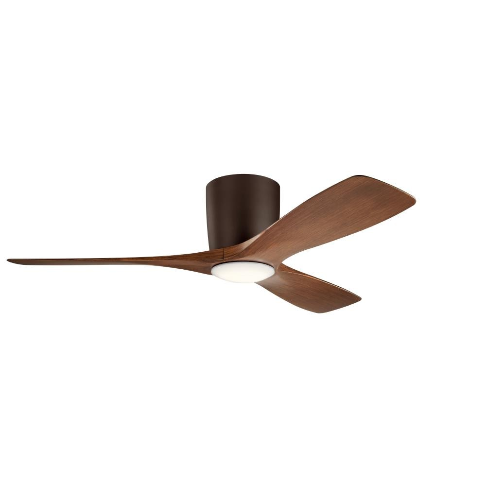 Kichler Volos 48 In Satin Natural Bronze Ceiling Fan With Wall Mounted 3 Blade In The Ceiling Fans Department At Lowes Com