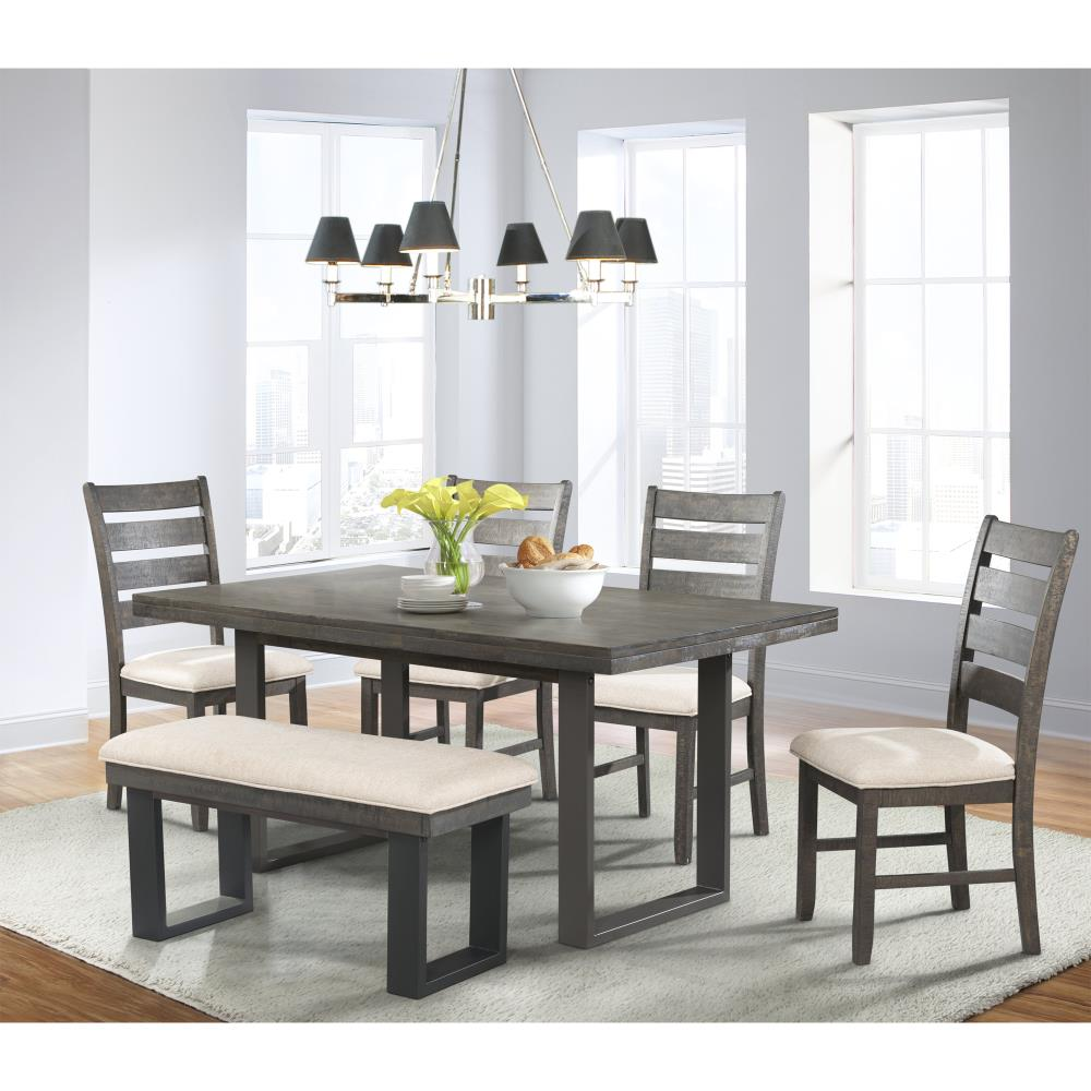 Picket House Furnishings, Dining Room Table With 4 Chairs And A Bench