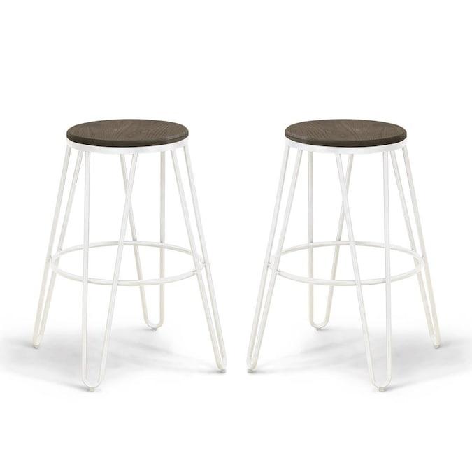 White Counter Height Bar Stool, Blue Ridge Furniture
