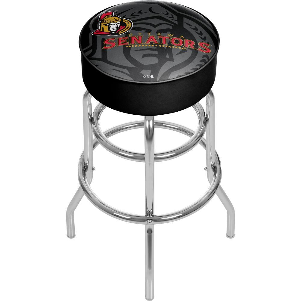 Trademark Gameroom Ottawa Senators Bar Stools Chrome Bar Height Upholstered  Swivel Bar Stool