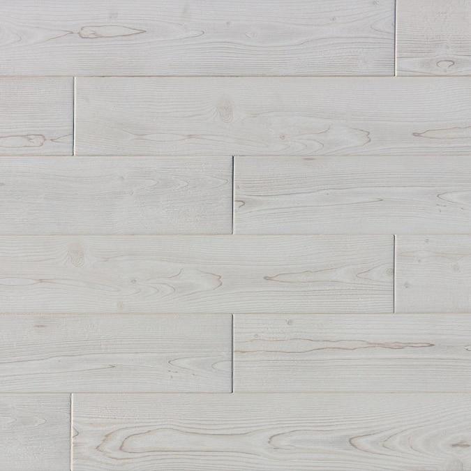 True Porcelain Co Pine Wood White 6 In
