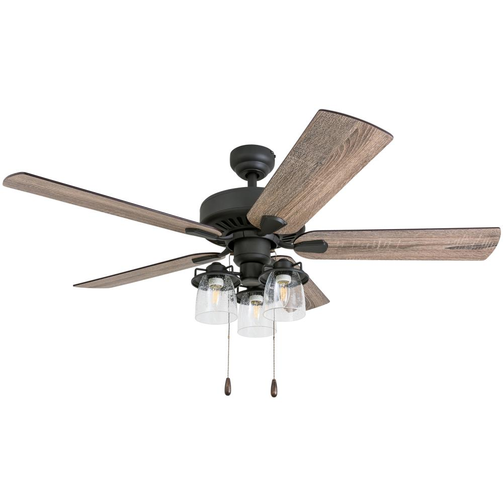 Prominence Home North Point 52 In Aged Bronze Led Indoor Ceiling Fan With Remote 5 Blade In The Ceiling Fans Department At Lowes Com