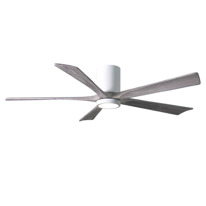 Matthews Fan Company Irene Hlk 60 In Gloss White Led Flush Mount Ceiling Fan With Remote 5 Blade In The Ceiling Fans Department At Lowes Com