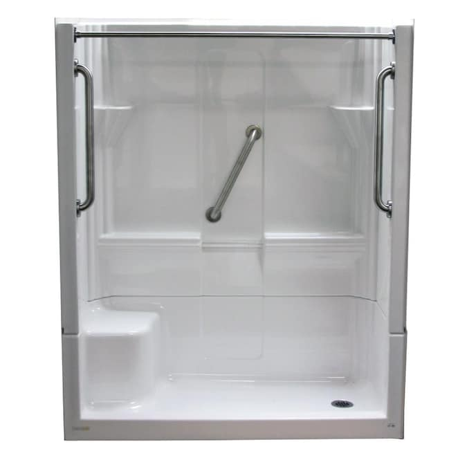 Laurel Mountain Almedia 60 X 30 White, One Piece Shower Stalls With Glass Doors