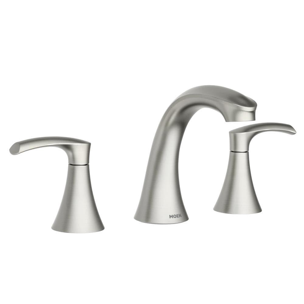 Moen Graeden Spot Resist Brushed Nickel, Moen Bathroom Faucets Widespread Brushed Nickel