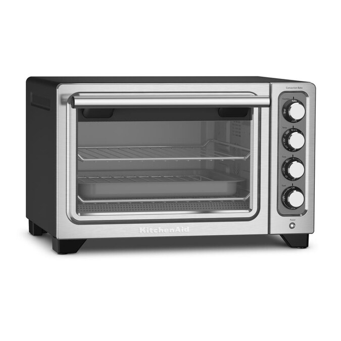 Kitchenaid 4 Slice Stainless Steel Convection Toaster Oven In The Toaster Ovens Department At Lowes Com