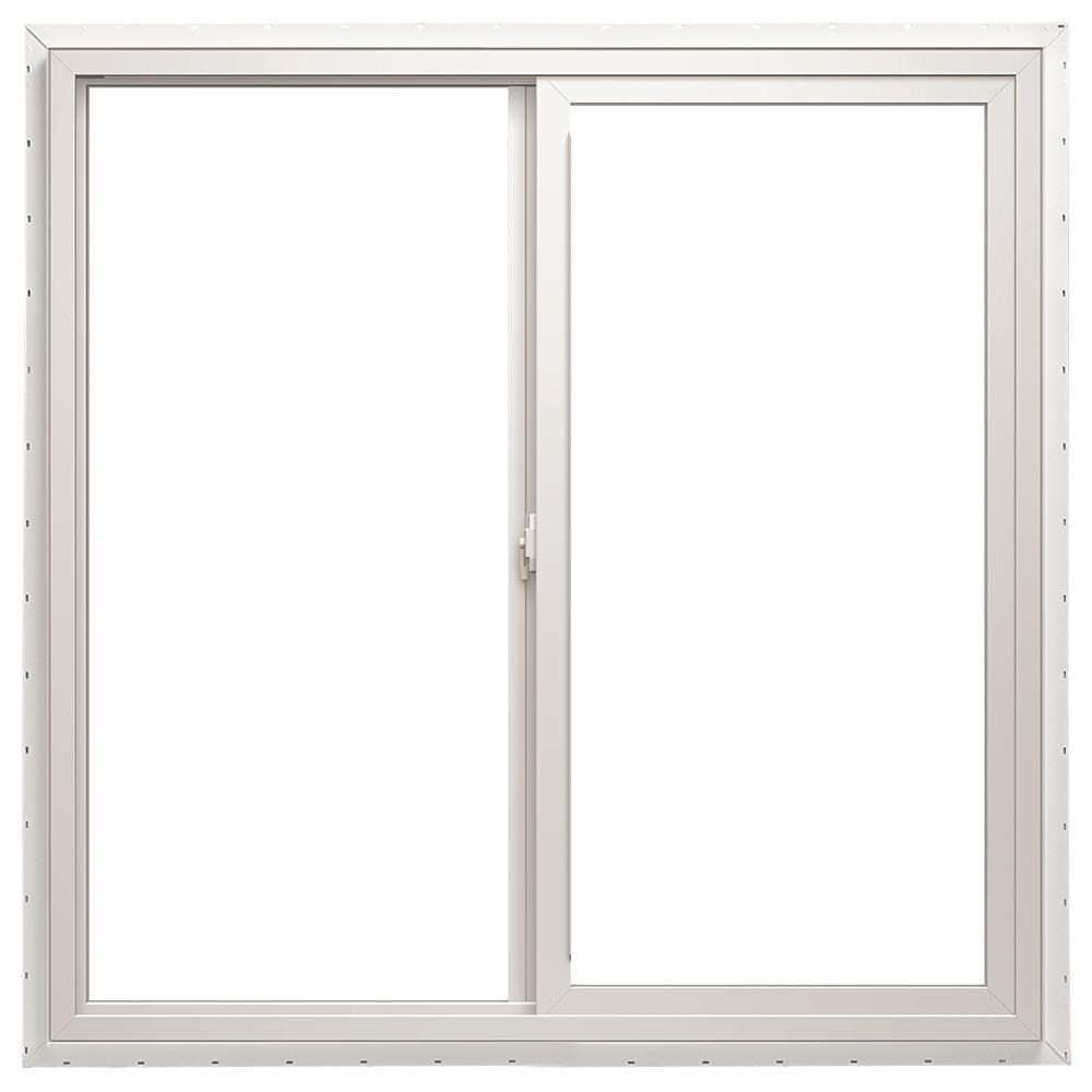 71.5-in x 47.5-in x 2.6875-in Jamb Left-operable Vinyl New Construction Egress White Sliding Window   - ThermaStar by Pella 1000007455