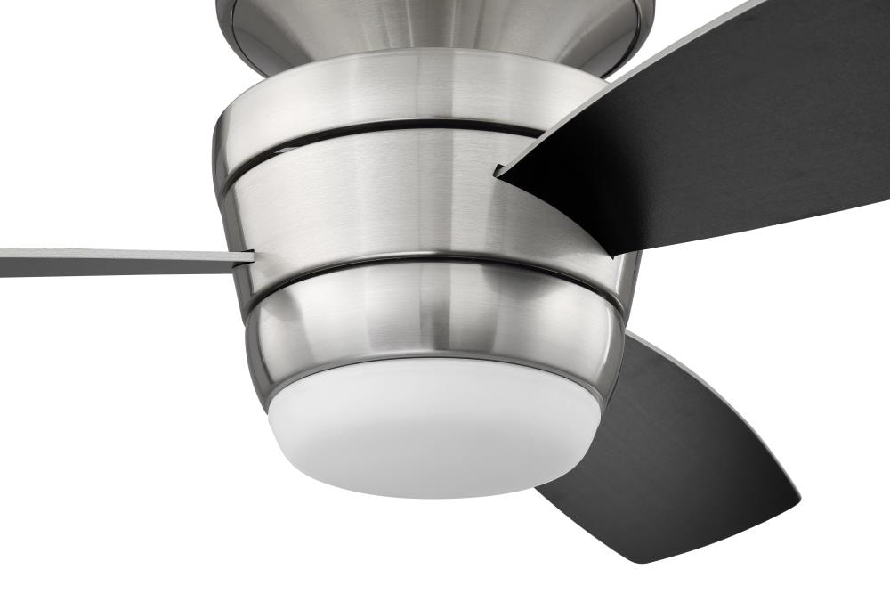 Harbor Breeze Mazon 44 In Brushed Nickel Led Ceiling Fan With Remote 3 Blade In The Ceiling Fans Department At Lowes Com