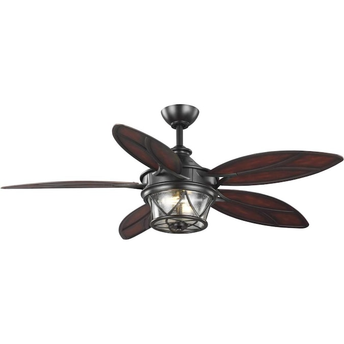 Progress Lighting Alfresco 54 In Architectural Bronze Indoor Outdoor Ceiling Fan With Remote 5 Blade In The Ceiling Fans Department At Lowes Com