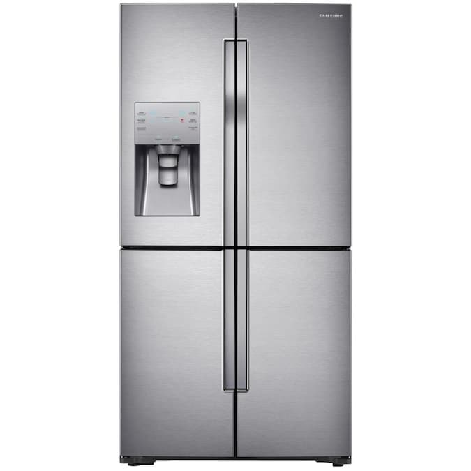 Shop Samsung FlexZone 22.5-cu ft 4-Door Counter-depth French Door Refrigerator with Ice Maker from Lowes on Openhaus