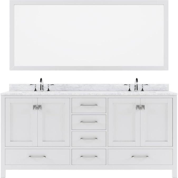 Virtu Usa Ine Avenue 72 In White, Virtu Bathroom Vanities