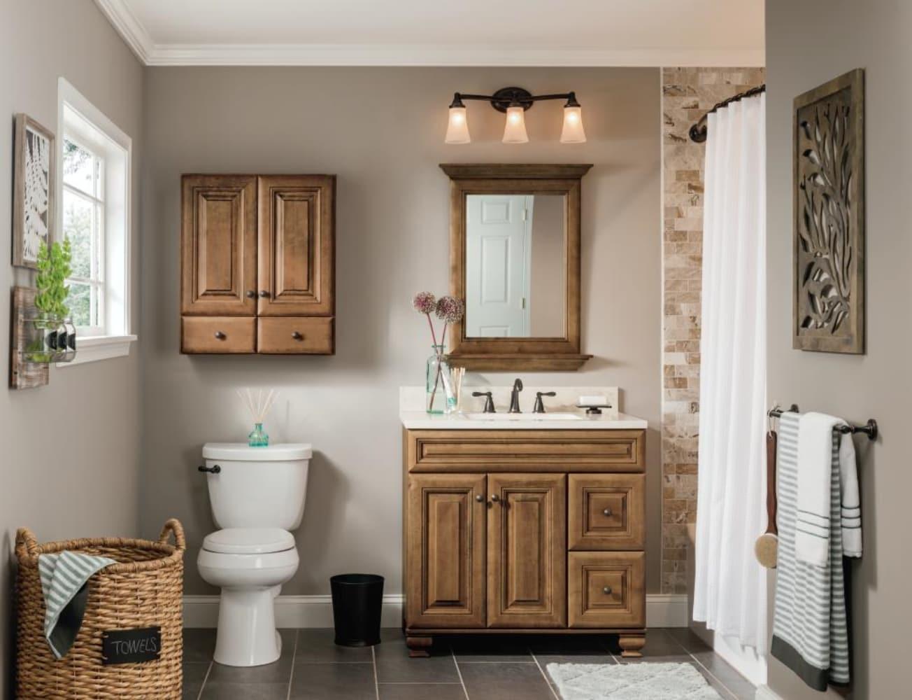 Bathroom Vanities Without Tops, Mocha Bathroom Vanity