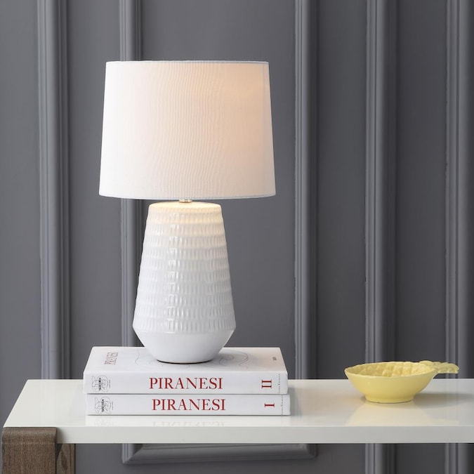 White Led Rotary Socket Table Lamp With, Girly Table Lamps