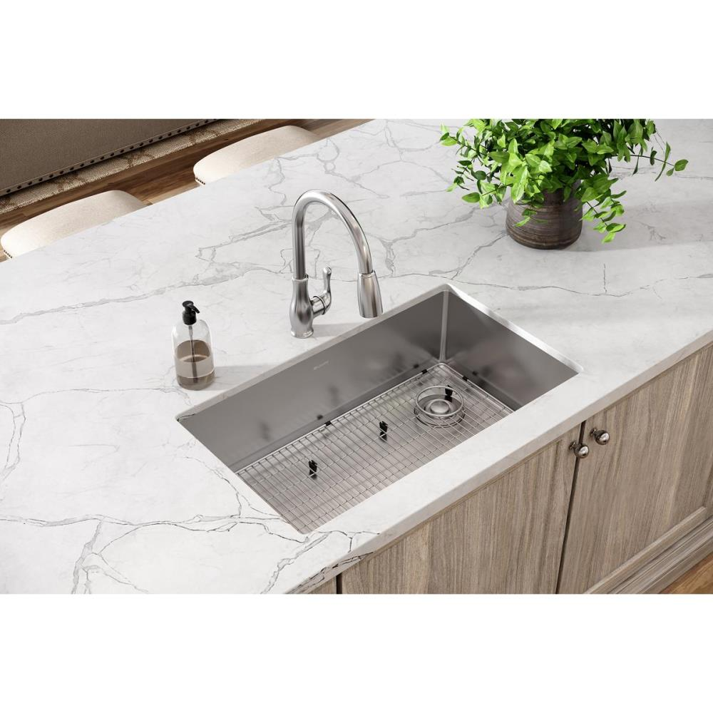Elkay Crosstown Undermount 31 5 In X 18 5 In Polished Satin Single Bowl Kitchen Sink In The Kitchen Sinks Department At Lowes Com