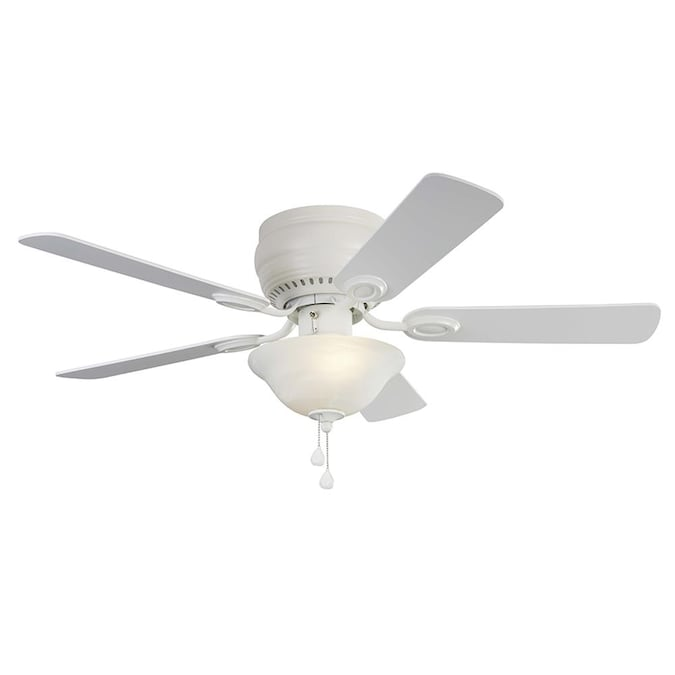 Harbor Breeze Mayfield 44 In White Led Ceiling Fan 5 Blade In The Ceiling Fans Department At Lowes Com
