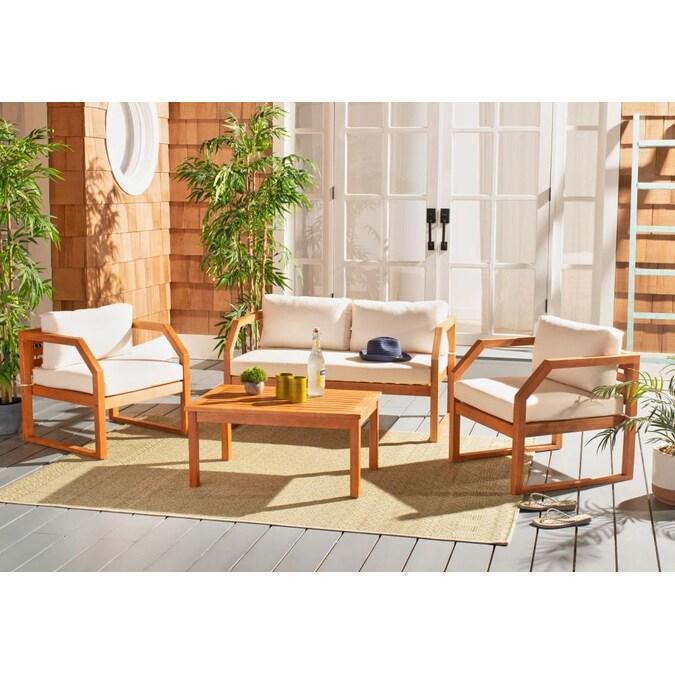 Safavieh Dren 4 Piece Wood Frame Patio, Safavieh Patio Furniture