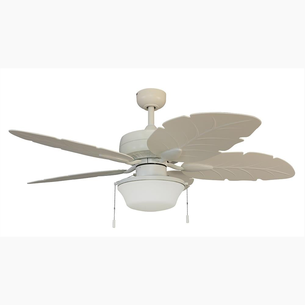 Harbor Breeze Waveport 52 In White Led Ceiling Fan With Light 5 Blade In The Ceiling Fans Department At Lowes Com