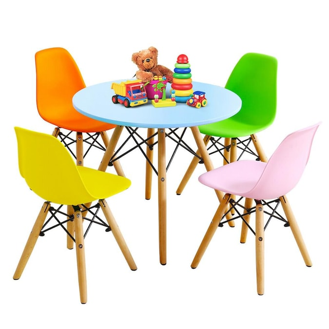 Pc Kids Colorful Round Table Chair Set, Round Table And Chairs Set
