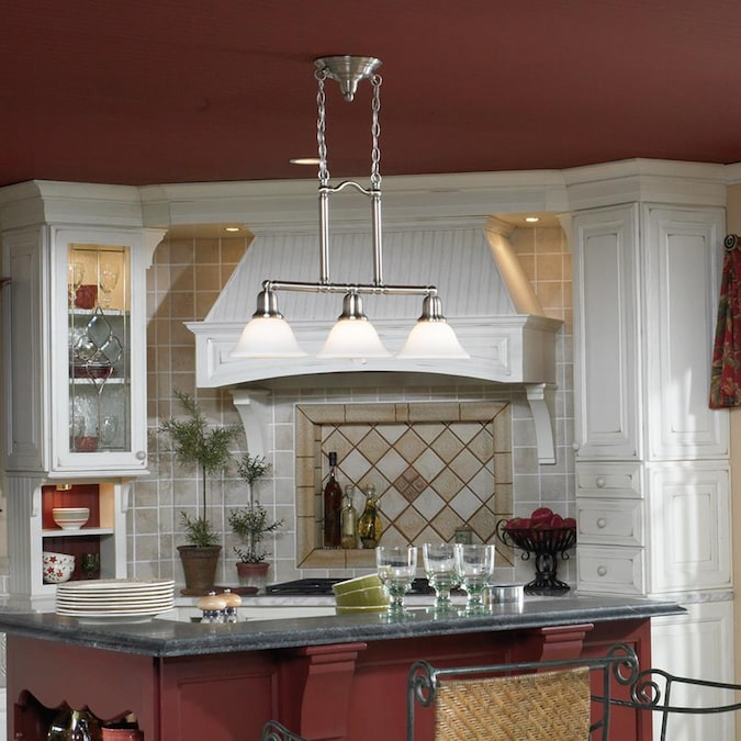 Sea Gull Lighting Sussex Brushed Nickel Transitional Kitchen Island Light In The Pendant Lighting Department At Lowes Com
