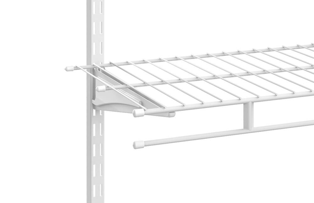 2 ClosetMaid Large and Small Shelf End Caps for Wire Shelving 168 ct White 75355