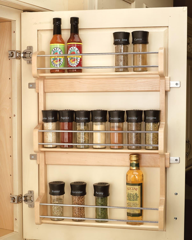 Rev A Shelf Sos Door Mount Spice Rack, Spice Rack For Kitchen Cabinet Door
