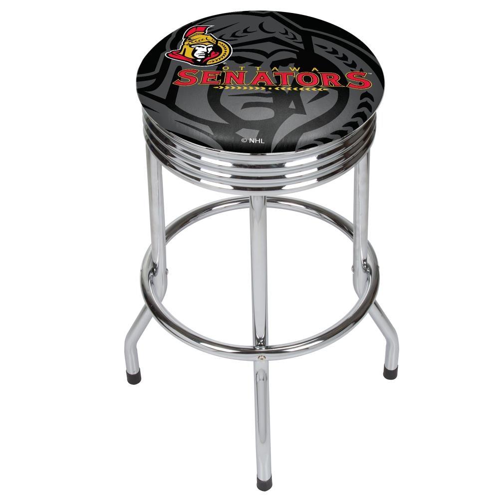 Trademark Gameroom Ottawa Senators Bar Stools Chrome Bar Height ...