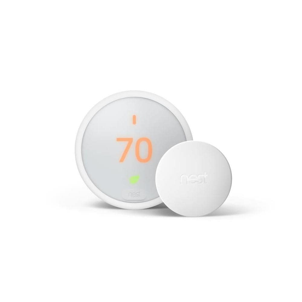 Google Nest Smart Thermostat E with WiFi Compatibility and Google Nest Temperature Smart Sensor | BH1254-US