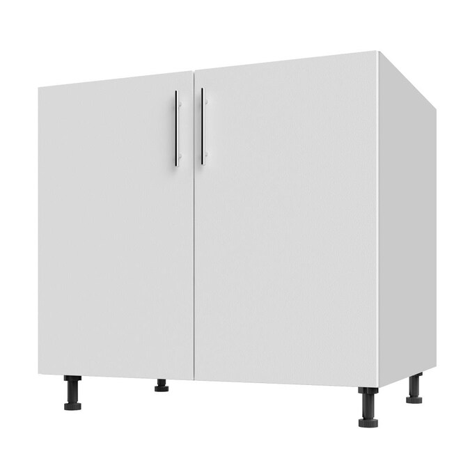 Weatherstrong Weatherstrong Outdoor Cabinetry 36 In X34 5 In X27 In Open Back Base Full Height In Miami Shell White In The Semi Custom Kitchen Cabinets Department At Lowes Com