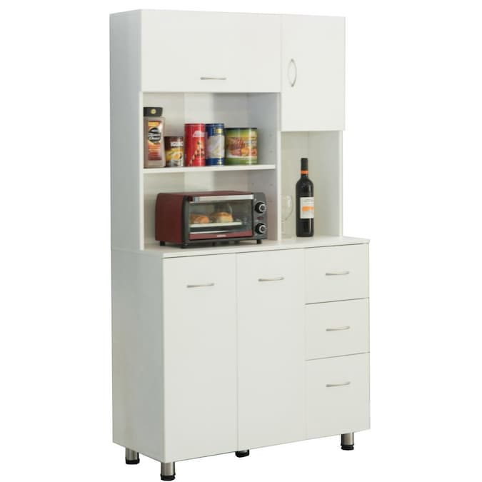 Basicwise Kitchen Pantry Storage Cabinet In The Dining Kitchen Storage Department At Lowes Com
