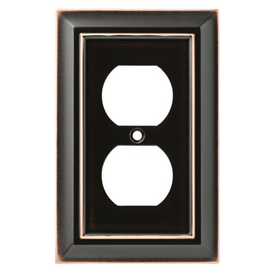Brainerd W10087-AB Antique Brass Architect Single Switch Cover Plate